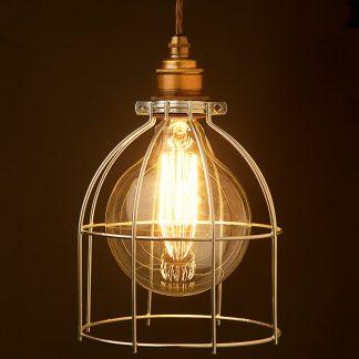 Galvanised G125 Bulb Cage Pendant