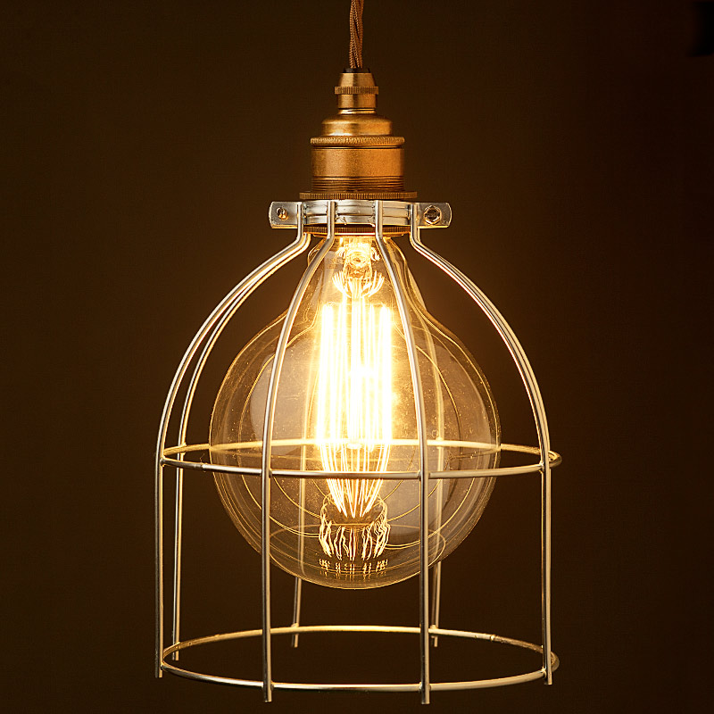 Large Light Bulb Plated Cage Ing
