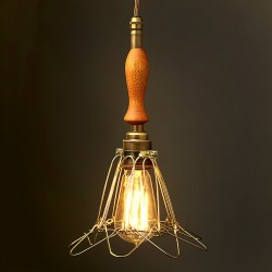 Handled-pendant-cage-brass-wire