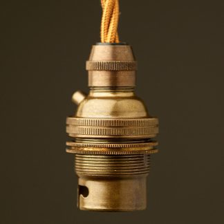 Brass Pendant Lampholder Bayonet B22 fitting