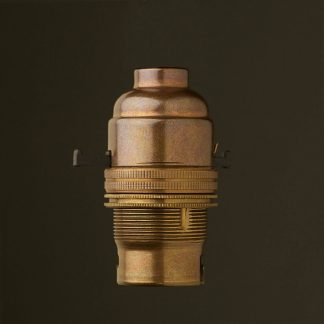 Brass Switched Lamp holder Bayonet B22 fitting threaded entry