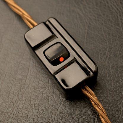 Black 10A Inline switch 240V