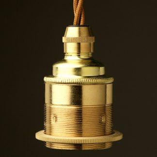 New Brass Pendant Lampholder Edison E27