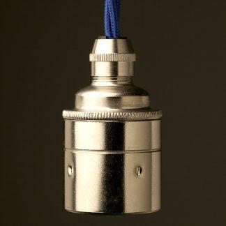 Nickel Pendant Lamp holder Edison E27 smooth fitting