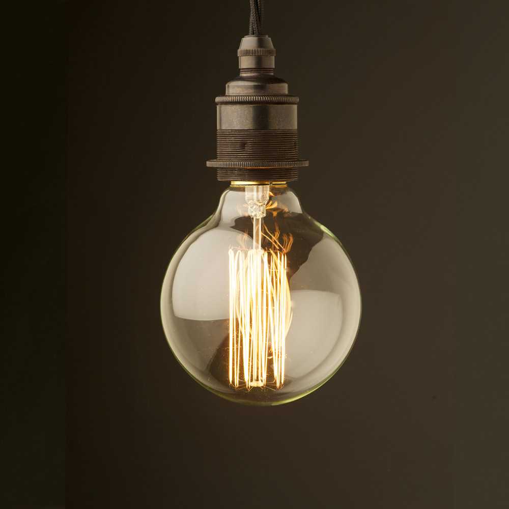 Edison style light bulb and e27 bronze fitting Light bulb lamps