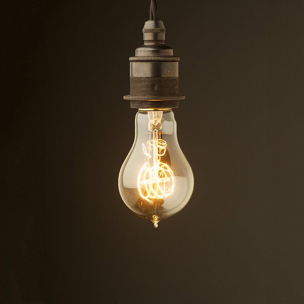 Hanging Light Bulb Fittings: Edison Style Light Bulb And E27 Bronze Fitting