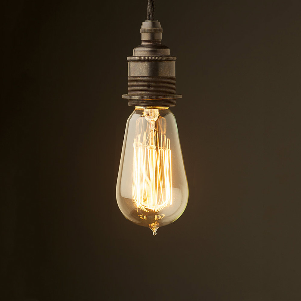 Edison Style Light Bulb And E27 Bronze Fitting