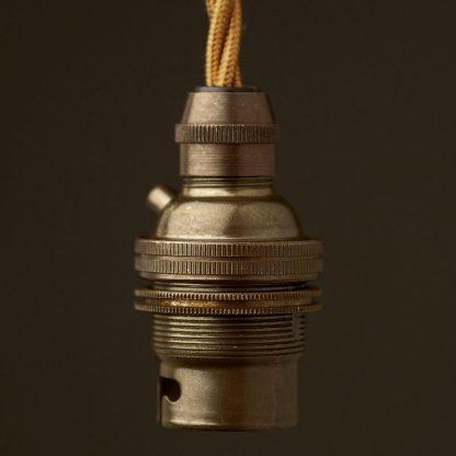 Bronze Pendant Lampholder Bayonet B22 fitting