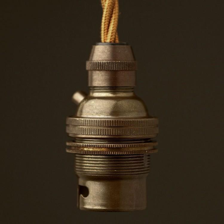 Bronze-B22-Cordgrip-Lampholder