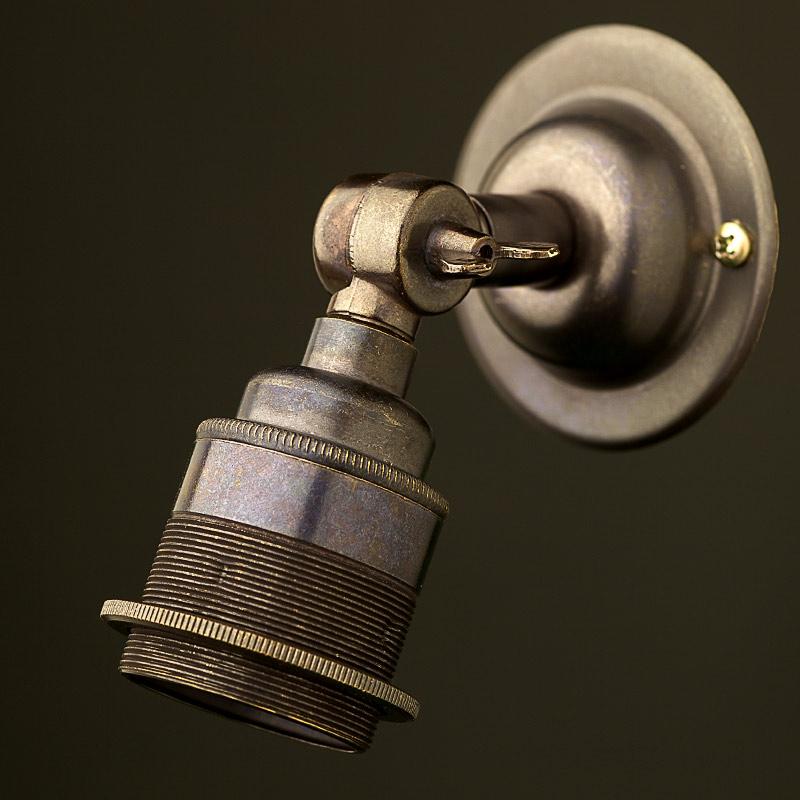 Wall Mounted Globe Light Fitting : Bronze Wing Nut Wall mount Lampholder E27 fitting