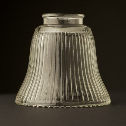Bell Shaped Holophane Glass Light Shade