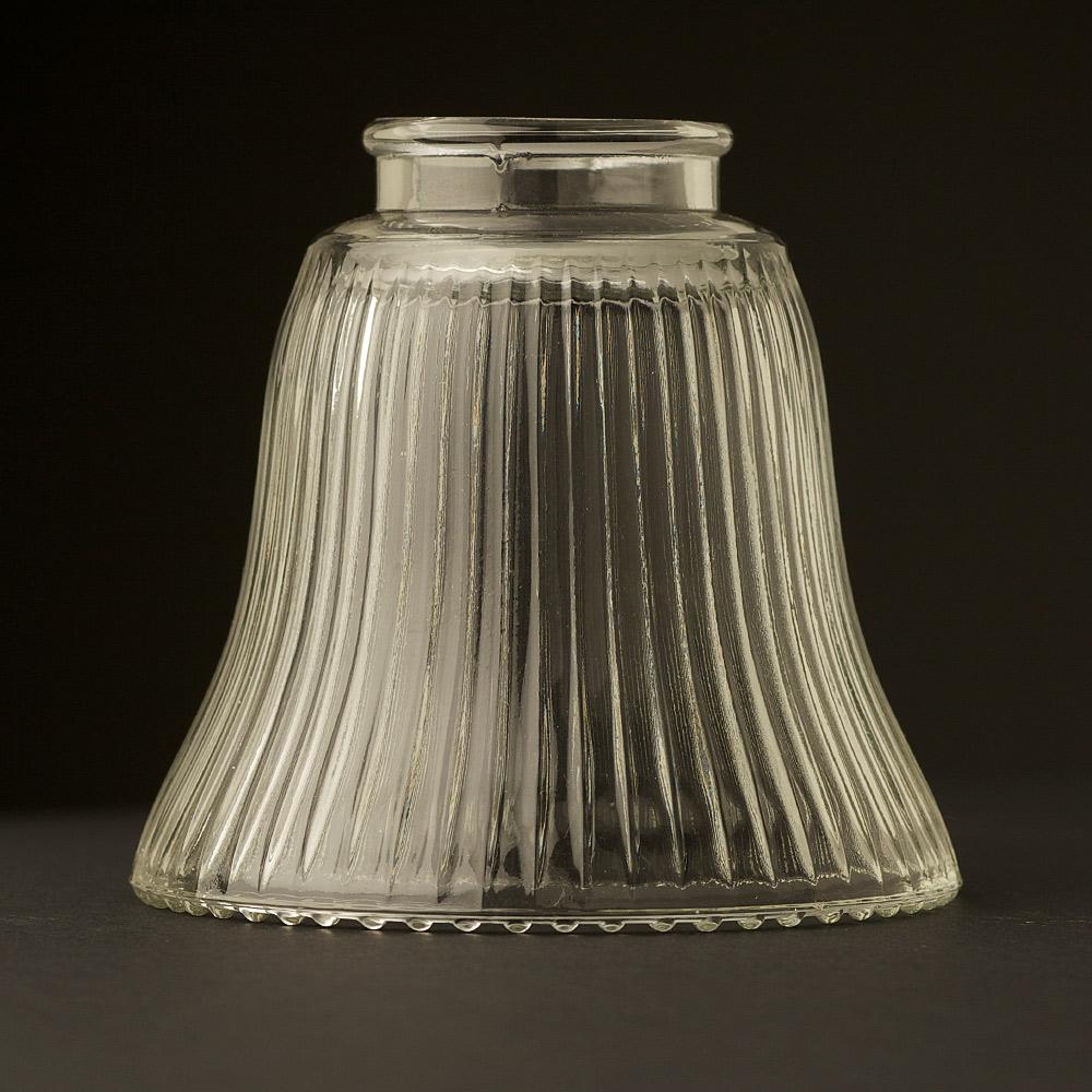 shop hardware glass shades bell shaped holophane glass light shade. Black Bedroom Furniture Sets. Home Design Ideas