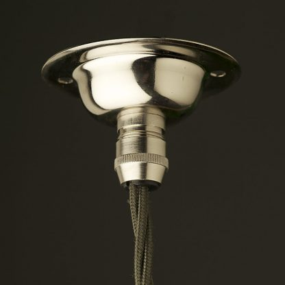 Nickel Cord Grip ceiling rose 66mm