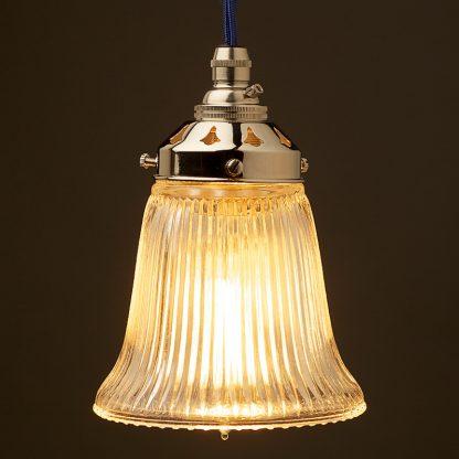 Bell Shaped Holophane Glass Light Shade