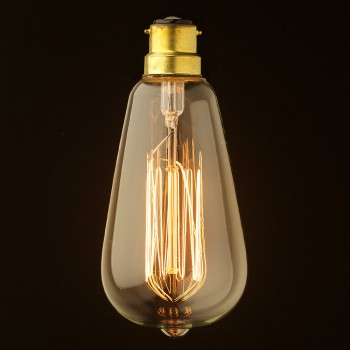 Vintage Edison Squirrel Cage Teardrop filament bulb 140mm B22