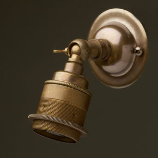 Antique Brass Knuckle Wall mount Lamp holder E27 fitting