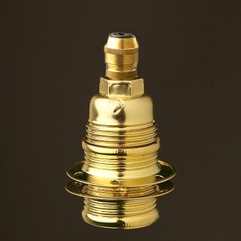 Brass-E14-lampholder-shade-brass-cordgrip
