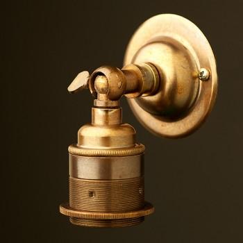 Brass Knuckle Wall mount Lampholder E27 fitting