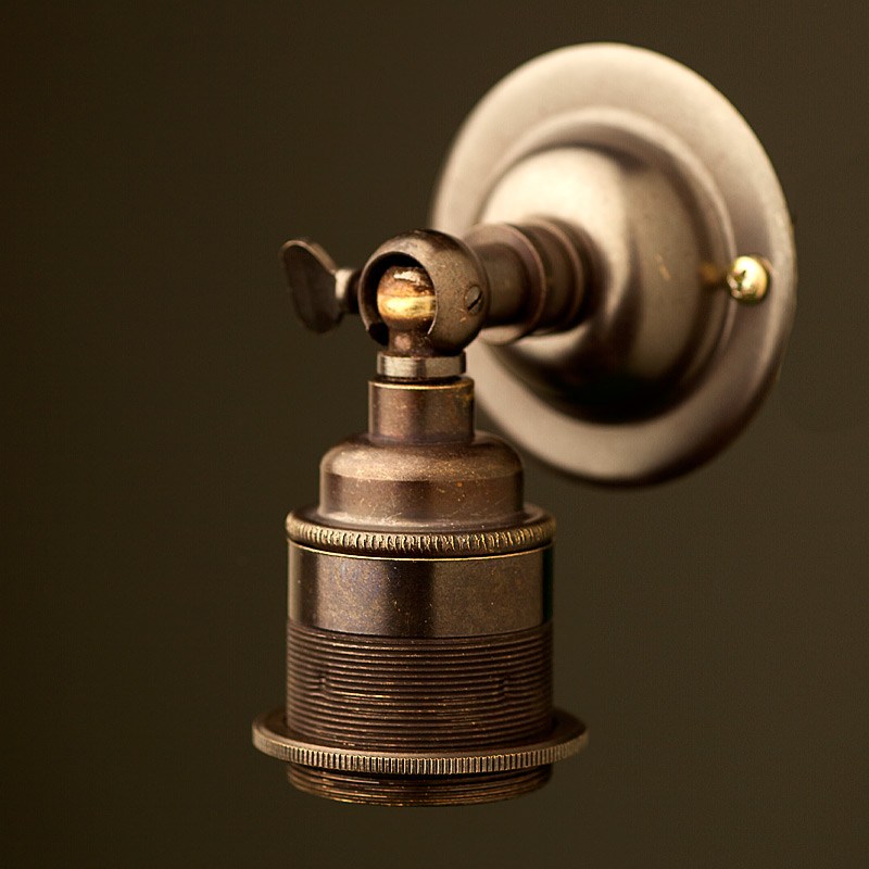 Bronze Knuckle Wall mount Lampholder E27 fitting