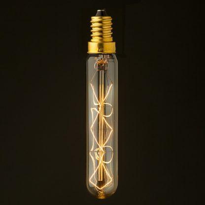 Vintage Edison E14 filament tube bulb