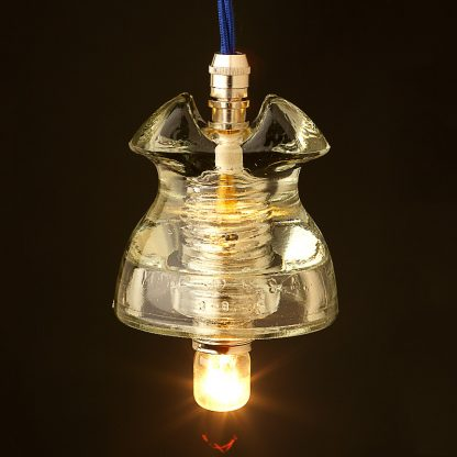 Hemingray Insulator No 62 Clear SES pendant light