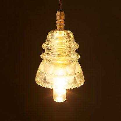 Hemingray Insulator No42 Clear SES pendant light