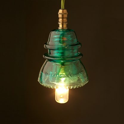 Hemingray Insulator No42 Green SES pendant light