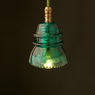 Hemingray Insulator No42 Green SES pendant light