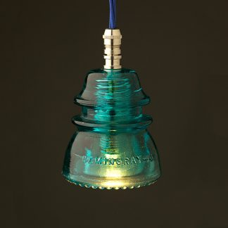 Hemingray Insulator No42 Light Aqua SES pendant light