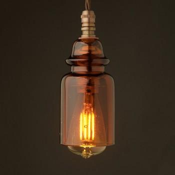 Insulator-No430-Amber-240V-E14-pendant-light-LED-3-Watt