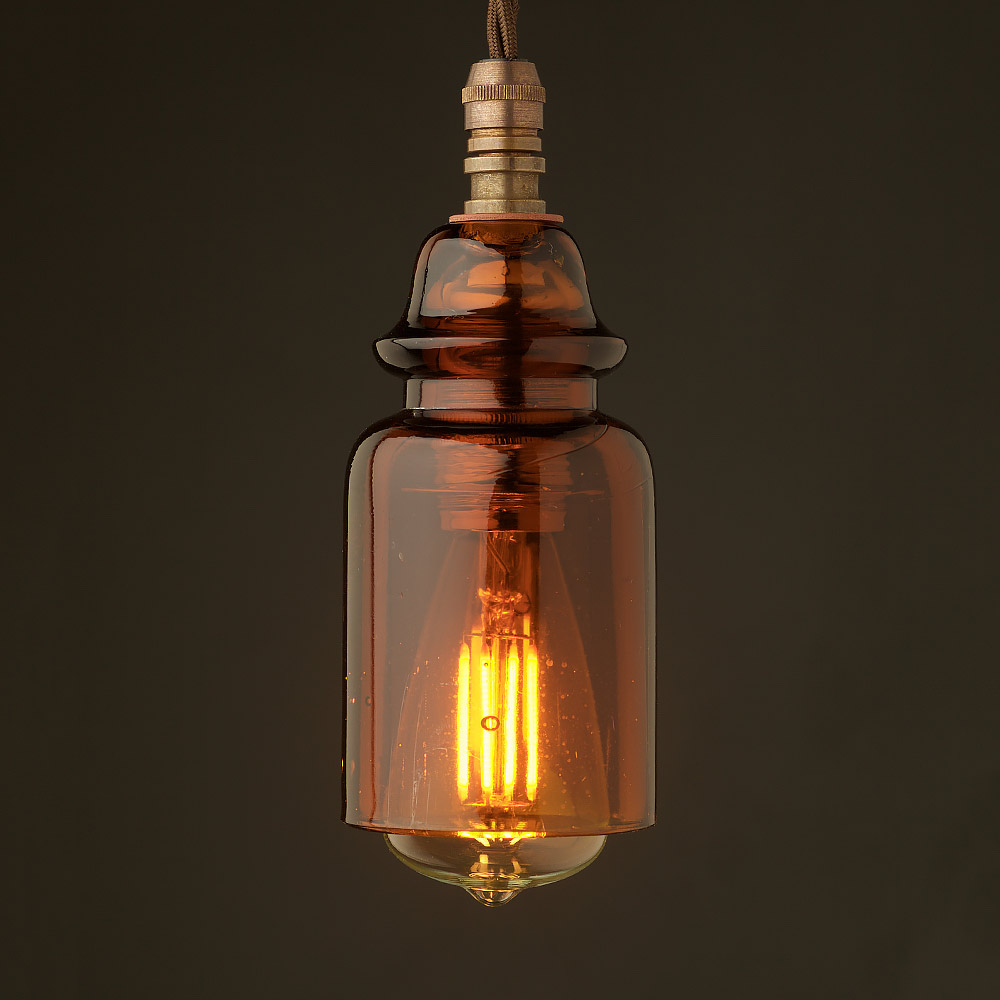 Insulator no430 amber 240v e14 pendant light for Insulator pendant light