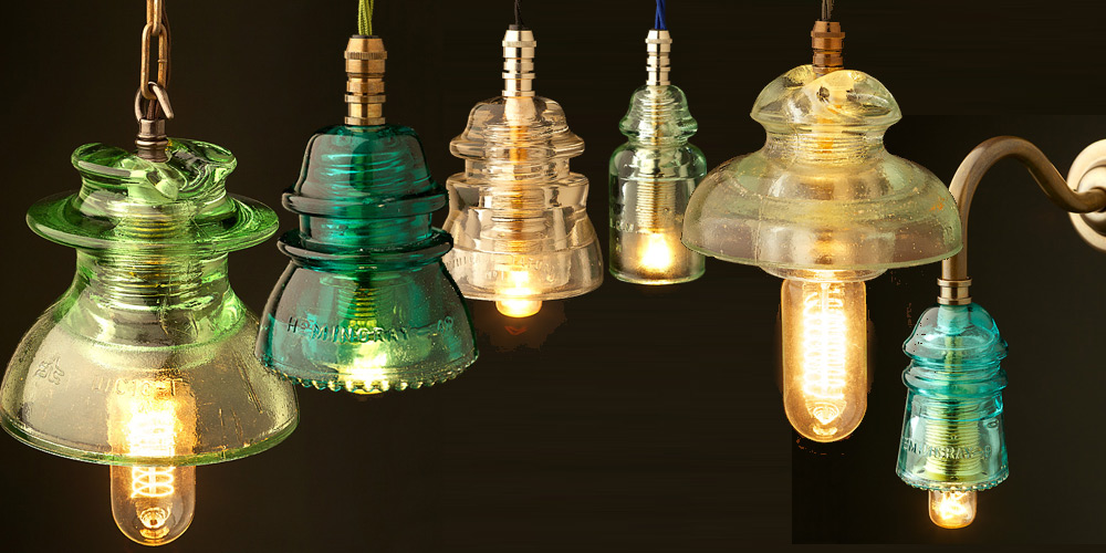 glass pin insulator 240v pendant and wall lamps. Black Bedroom Furniture Sets. Home Design Ideas