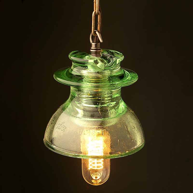 glass pin insulator 240v pendant and wall lamps