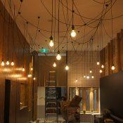 Many lights at Cherrybean Café Belconnen