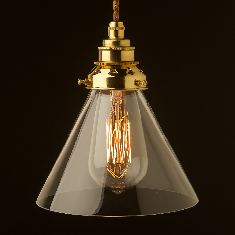 Clear glass coolie lampshade pendant greentooth Choice Image