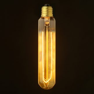 Vintage Edison medium tube filament smoke bulb