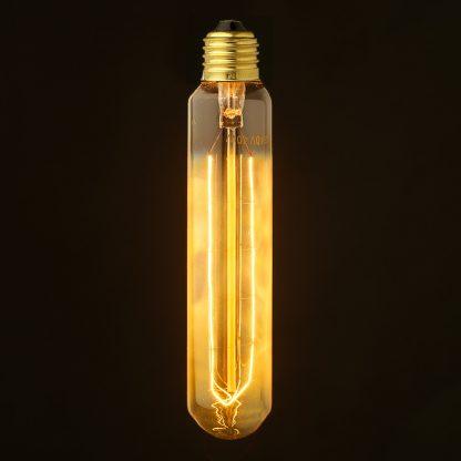 Vintage Edison medium tube filament smoke bulb