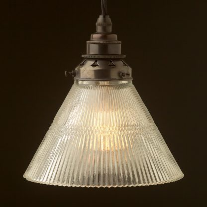 Holophane Cone Glass Light Shade Pendant