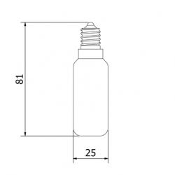 Incandescent-tungsten-E14-40W-tube-bulb