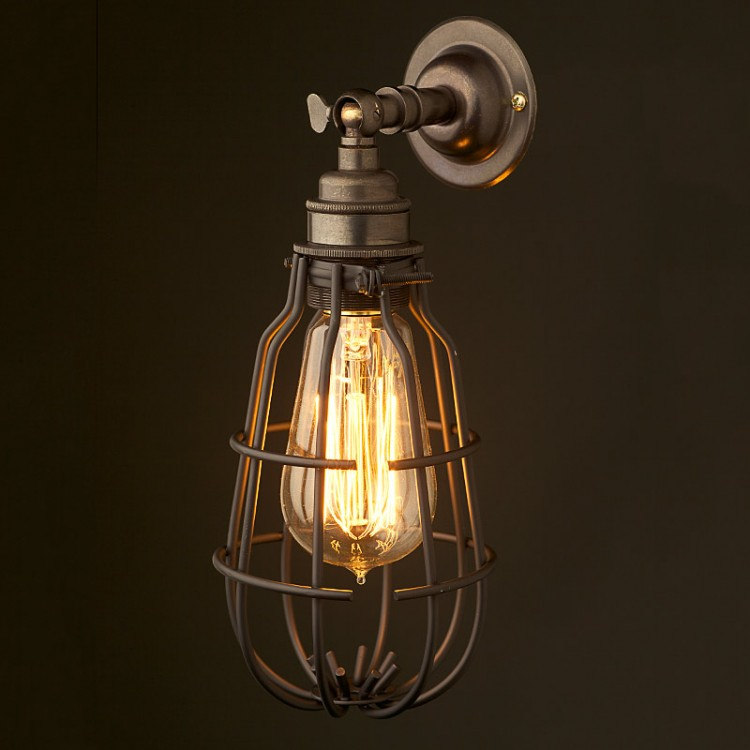 Mex&Co Caged Wall mount Lampholder E27 fitting