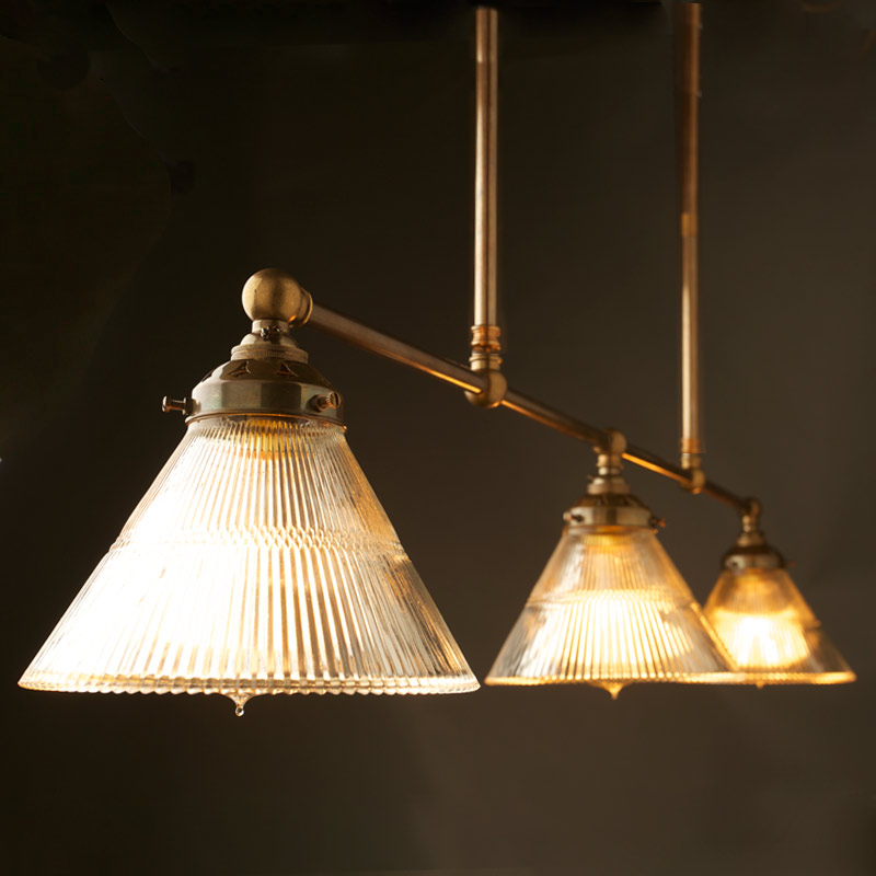 Vintage Edison Billiards Table Light