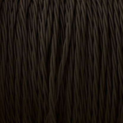 Fabric Covered Braided 3 Core Lighting Flex Black