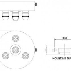 Brass-Multiple-drop-Cord-grip-ceiling-plate