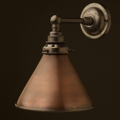 Bronze Straight Arm Wall Mount Shade