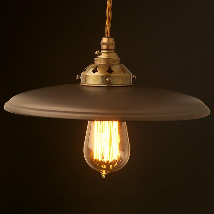 Metal Flat Light Shade Brass Pendant