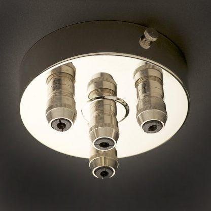 Nickel Multiple drop Cord grip ceiling plate