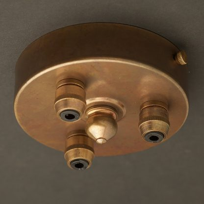Brass Multiple drop Cord grip ceiling plate