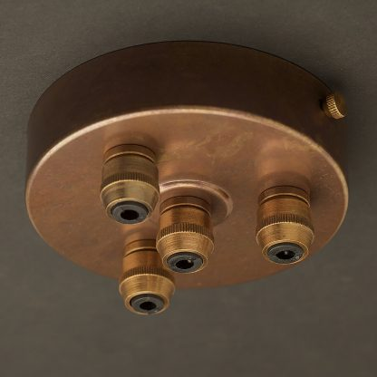 Brass Multiple drop Cord grip ceiling plate