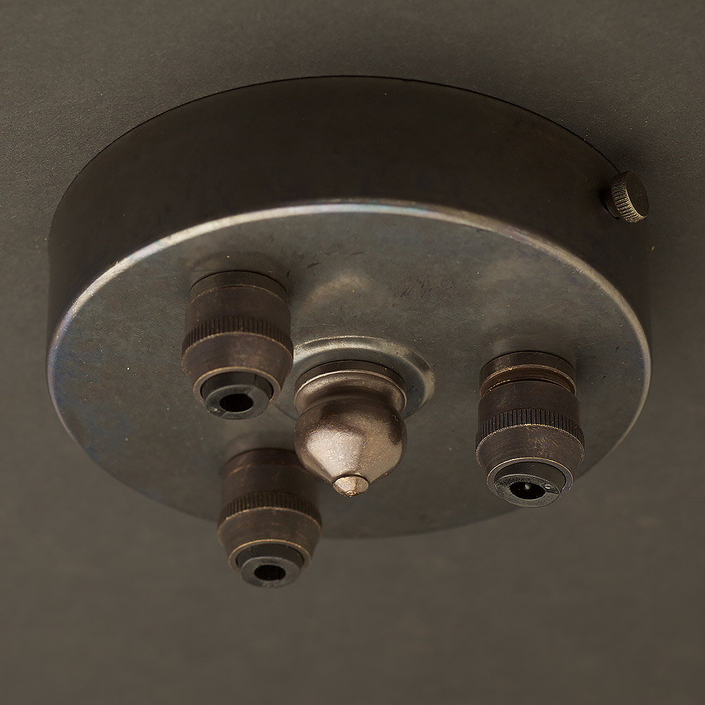 Bronze Multiple drop Cord grip ceiling plate