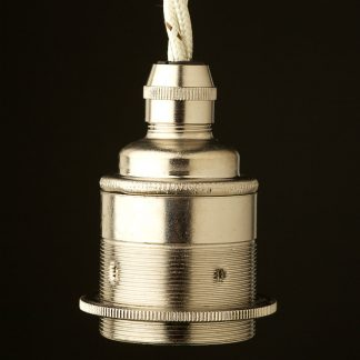 Nickel Pendant Lampholder Edison E27 fitting